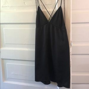 Strappy black slip dress - new with tags